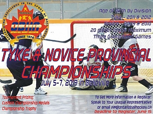 2019 Tyke & Novice Provincial Championships