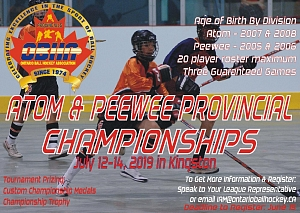 2019 Atom & Peewee Provincial Championships