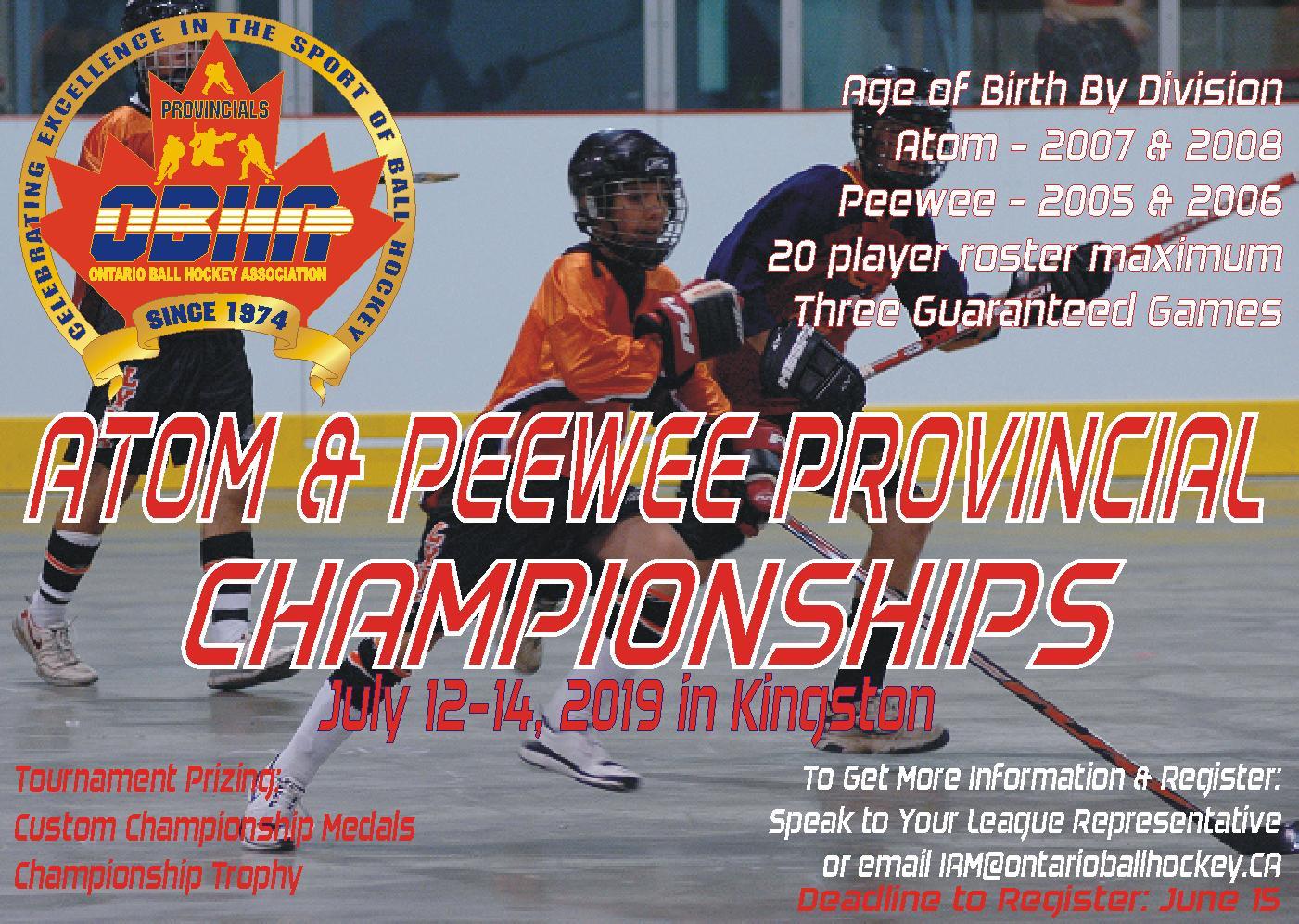 2019 Atom Peewee Provincial Championships Weareballhockey Com