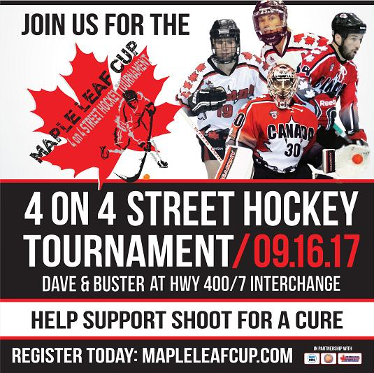 Ball Hockey Day in Canada to support Shoot For  Cure
