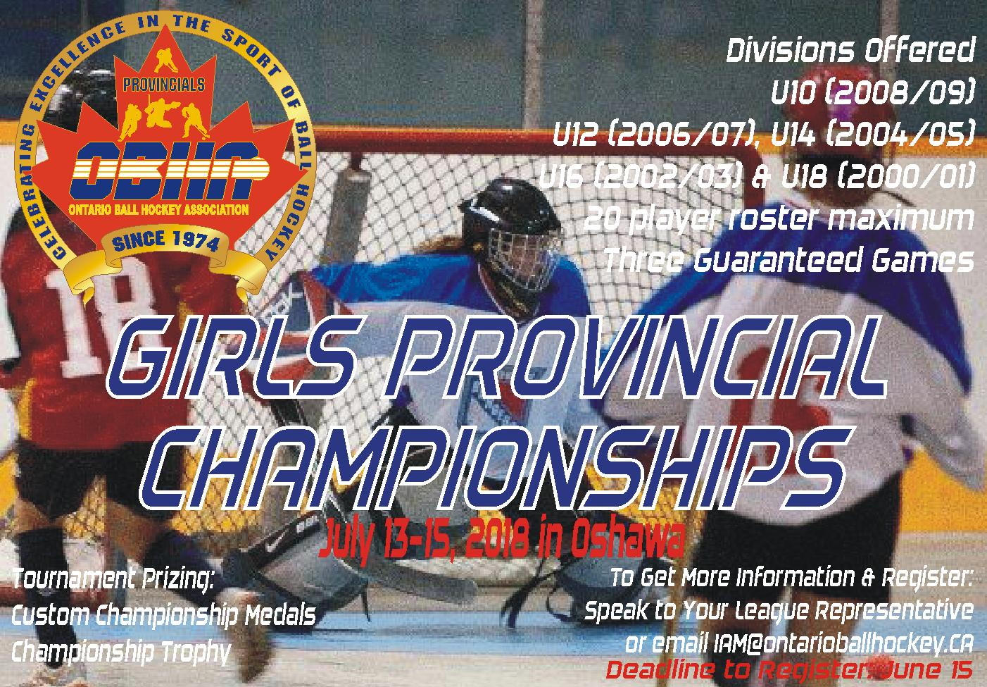 2018 OBHA Girls Provincial Championships