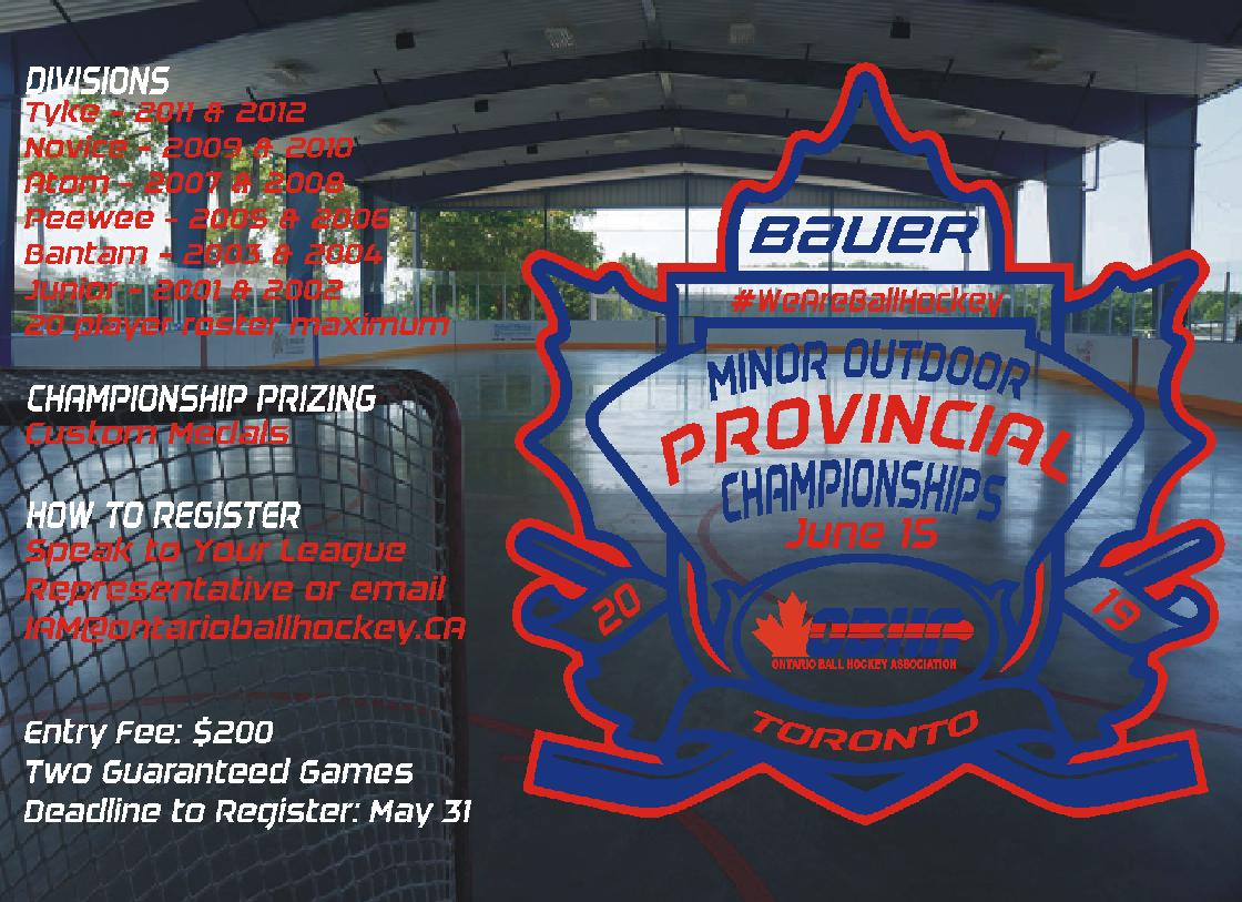 2019 Minor Outdoor Provincial Championships